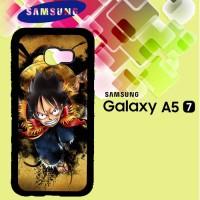 Casing Samsung A5 2017 one piece luffy background wallpaper Custom Har