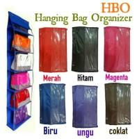 Jual HBO Hanging Bag Organizer 5 sekat - Rak tas gantung tanpa resleting Murah