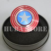 Jual Fidget Spinner Captain America Kapten Amerika Marvel Star Premium Murah