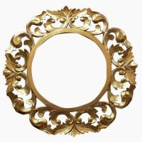 bingkai ukir model bunga gold glossy