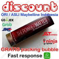 Maybelline Powder Matte Lipstick / Lipstik Color Sensational ORI/ASLI