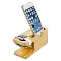Jual Wooden Charging Dock Stand for Apple Watch 38mm 42mm iPhone Murah