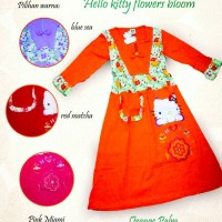 Jual gamis hello kitty flowers bloom collection Murah