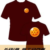 Tshirt -MERAH MAROON- DRAGONBALL Bola Naga 6 - KG13 STORE