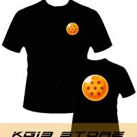 Tshirt -HITAM- DRAGONBALL Bola Naga 6 - KG13 STORE