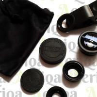 Jual Universal Lens 3in1 / Lensa Fisheye - Wide - Macro Murah