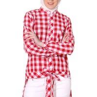 NEW Clover Clothing Tunic Danisha Red - Ukuran S TB 332