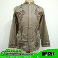 Baju Koko Dewasa Lengan Panjang AMS57