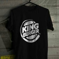 Kaos T-Shirt King Burger (Led Clothing)