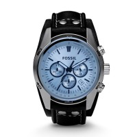 Jam Tangan Pria Fossil CH2564 Coachman Chronograph Black Leather Watch