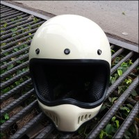 Helm Cakil Replika XBONE Trail Helm Full Face Cross Putih Gading