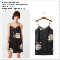 Baju Atasan Camisole Black Lingerie Tank Top Tidur Wanita Korea Import