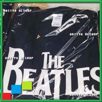 Jual BEST QUALITY kaos Distro Cotton band polyflex  the beatles Murah