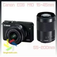 Canon EOS M10 15-45mm 55-200mm Cash & Kredit Kamera Mirrorless