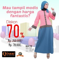 Qirani Dewasa Melati 109 | Baju Perempuan Wanita Muslim Gamis Dress.