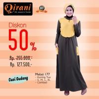 Qirani Dewasa Melati 177 | Baju Perempuan Wanita Muslim Gamis Dress
