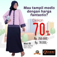 Qirani Dewasa Melati 109 | Baju Perempuan Wanita Muslim Gamis Dress