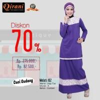Qirani Dewasa Melati 102 | Baju Perempuan Wanita Muslim Gamis Dress