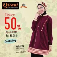 Qirani Dewasa Melati 179 | Baju Perempuan Wanita Muslim Gamis Dress