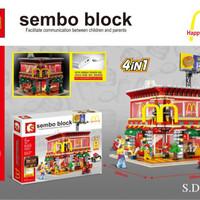 JUAL Lego Kw McDonald's Restaurant Jumbo Size LED 4 in 1 SD