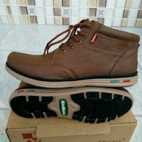 Sepatu Kickers Boots Brown Formal Casual Kulit Asli