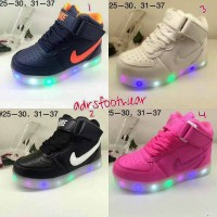 Nike Force One LED kids sepatu lampu anak nyala