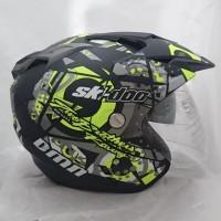 Helm 2 kaca (double visor) Ski Doo B-doff Yellow