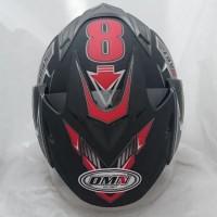 Helm DMN 2 kaca (double visor) Sport B-doff Red