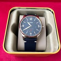 Jual Fossil Men Vintage Blue Leather Watch FS5246 Authentic/original/asli Murah