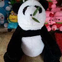 Jual boneka fanda panda hitam putih rumput jumbo Murah