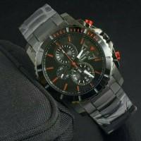 Jam Tangan Pria Alexandre Christie AC-6455 Full Black Original