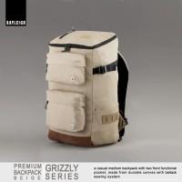 Jual Tas Ransel Backpack Bag Canvas Vintage - Rayleigh Grizzly Beige Murah