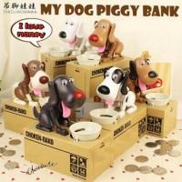 Jual Celengan Choken Bako Piggy Bank/Celengan karakter anjing makan koin Murah