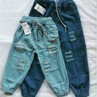 Jogger Pants Riped Soft Jeans Anak Standard Distro