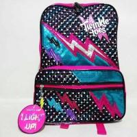 Jual Backpack Anak Skechers Twinkle Toes Lightning Flash BP 1007 Black Murah