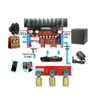 kit amplifier 2.1ch tda7377 2x10w sub30w
