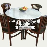 Meja Makan Kaki Bulat Tengah, Meja Makan Bulat K4