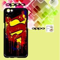 Casing OPPO F3 Paint Splash Superman Logo Custom Hard Case Cover