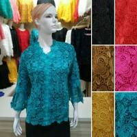Jual Kebaya Brokat Baju Atasan Wanita Brukat Prada Lace KL1112 Murah
