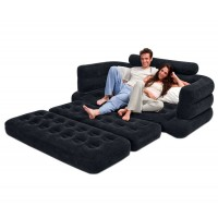 Jual Sofa Queen Air Couch Seat Comfortable Backrest Airbed - INTEX #68566 Murah