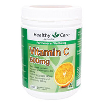 Healthy Care Vitamin C 500mg isi 500 chewable tablet