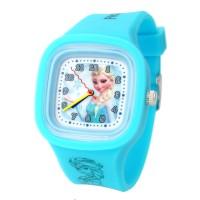 Disney Frozen ORIGINAL FZ5416-L Elsa Jam Tangan Anak Rubber Watch BL