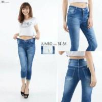 Pakaian Wanita - Celana Panjang Jeans 7per8 Basic Jumbo