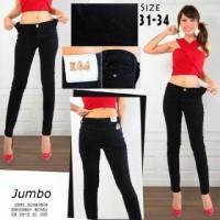 Pakaian Wanita - Celana Panjang Jeans Jumbo Ripped Black