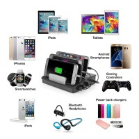 Jual 4 Port USB Fast Charging Station with 3 pcs Bluetooth Speaker -Charger Murah