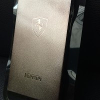 Iphone 5 5s Metal Hard Case Back Cover Plastic PC Ferrari Gold Black