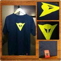 T-Shirt Dainese D1 textured logo yellow fluo (import)