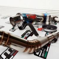 KNALPOT RACING R9 MUGELLO FULLSYSTEM SATRIA FU, SONIC 150, MX KING 150