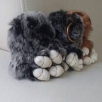 Jual gantungan tas boneka kelinci / rabbit bag charm chain/ furball/ pompom Murah
