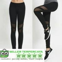 Jual Celana Sport Legging Senam Gym Yoga Fitness Garis Transparan Murah